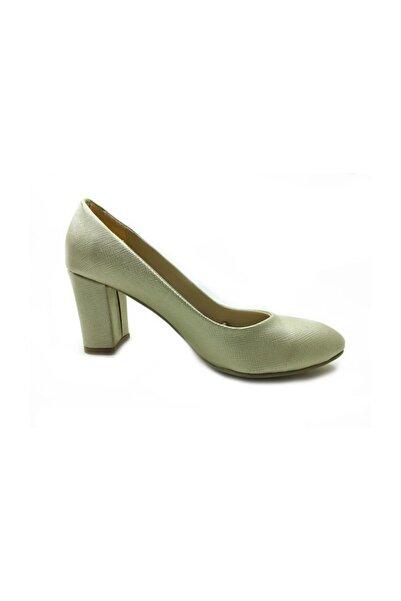 Almera Topuklu Ayakkabı - Altın - 600