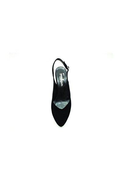 Topuklu Kadın Ayakkabı - Siyah-Süet - 650