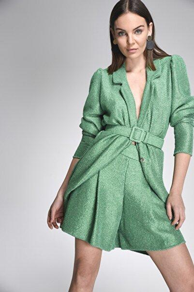 JOIN US Kadın Yeşil Simli Triko Şort- 2020S091