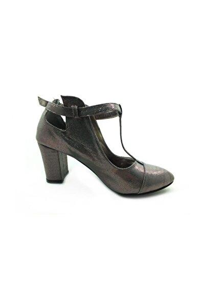 Almera Topuklu Ayakkabı - Platin-Sıvama - 820