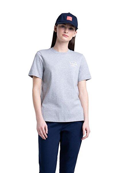 Herschel Supply Co. Herschel Supply - Kadın T-Shirt Women's Tee Arabic Classic Logo Heather Grey