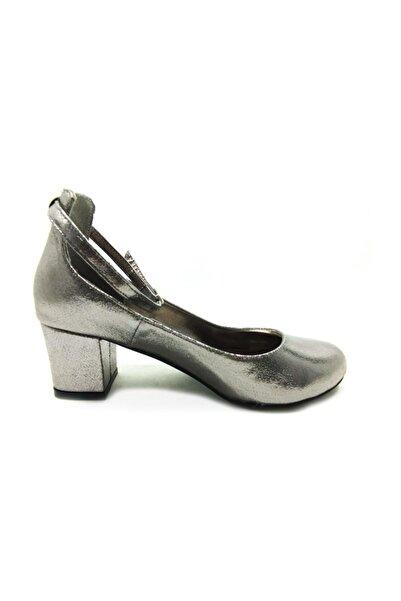 Almera Topuklu Bayan Ayakkabı - Platin-sıvama - 307