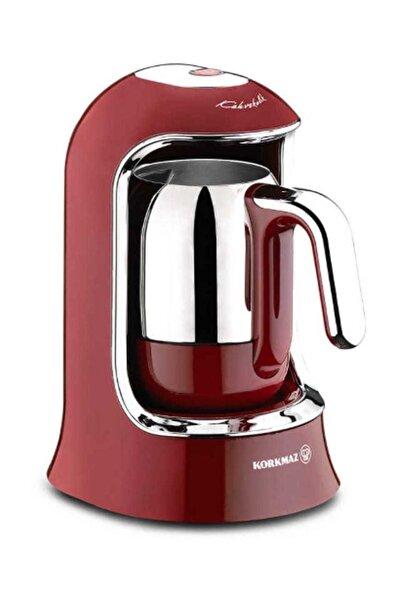 KORKMAZ A860-03 Korkmaz Kahvekolik Kırmızı Otomatik Kahve Makinesi