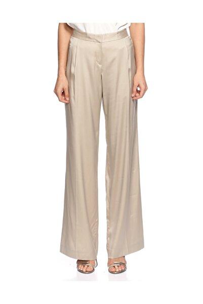 THEORY Yüksek Belli Geniş Kesim Bej Pantolon