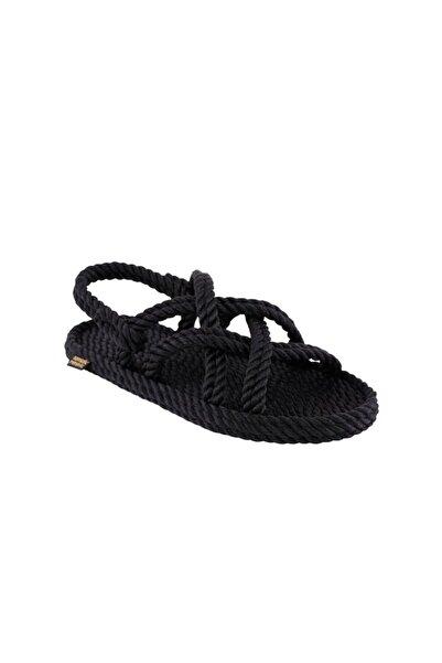 Nomadic Republic Bodrum Kadın Halat & Ip Sandalet - Siyah