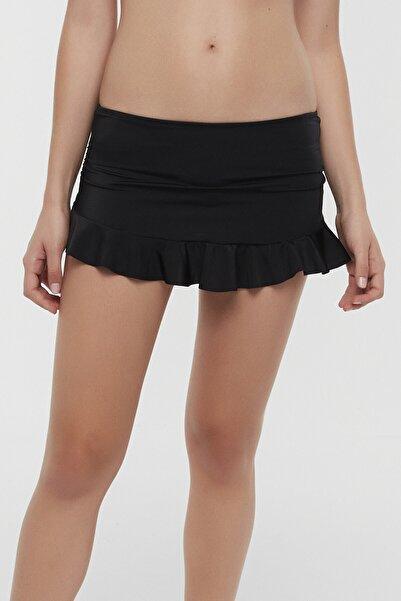Penti Kadın Siyah Basic Skirtkini Bikini Altı