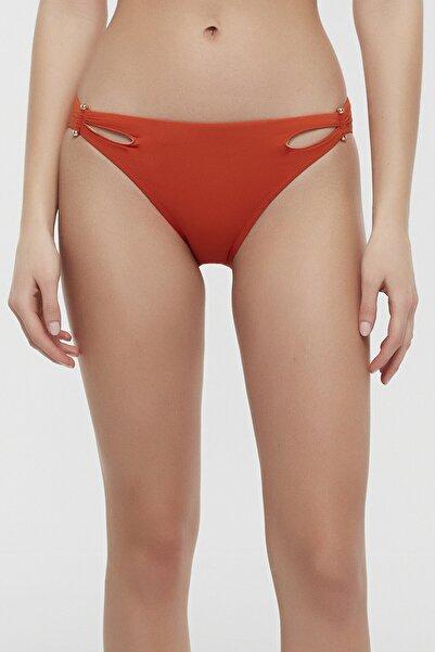Kadın Turuncu Arty Side Bikini Altı