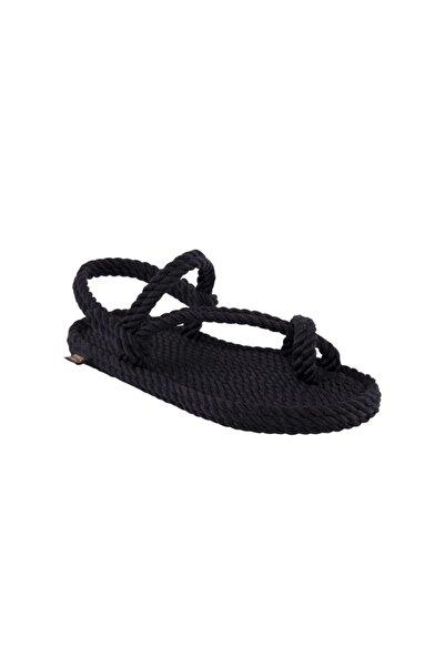 Nomadic Republic Kadın Hawaii  Halat & Ip Sandalet - Siyah