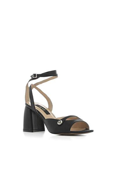 İLVİ Regaton Sandalet Siyah Deri