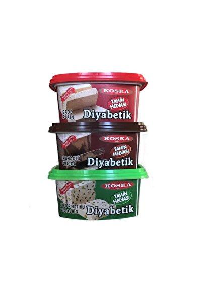 Koska Diyabetik Helva 3 Lü Set (sade+kakaolu+antep Fıstıklı) 300*3 900 Gr.