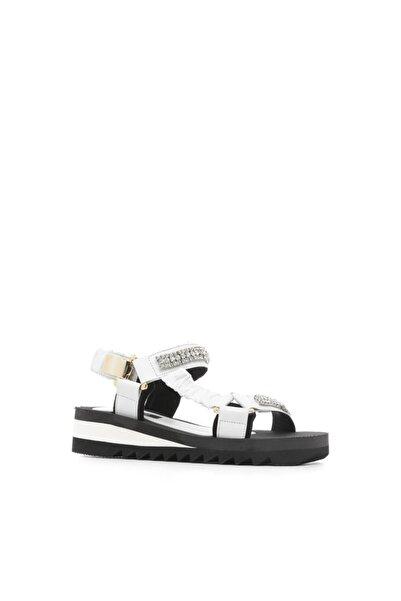 İLVİ Olepo Kadın Sandalet Beyaz Deri