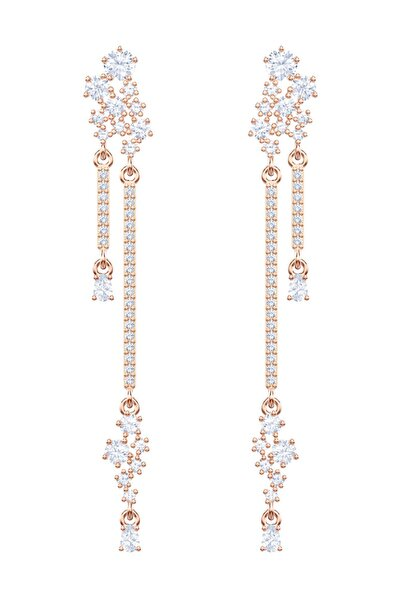 Swarovski Küpe Moonsun Pierced Earrings Drop Czwh/Ros 5486635