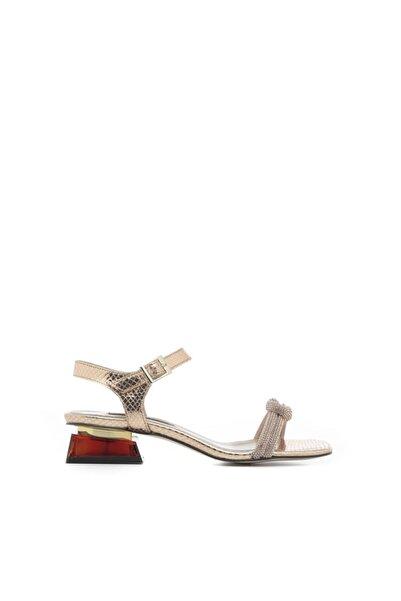 Sap Kadın Sandalet Altın Yılan