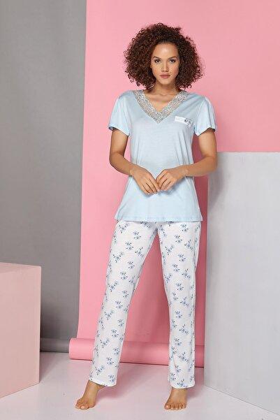 Sevim Kadın A.Mavi Pijama Takım