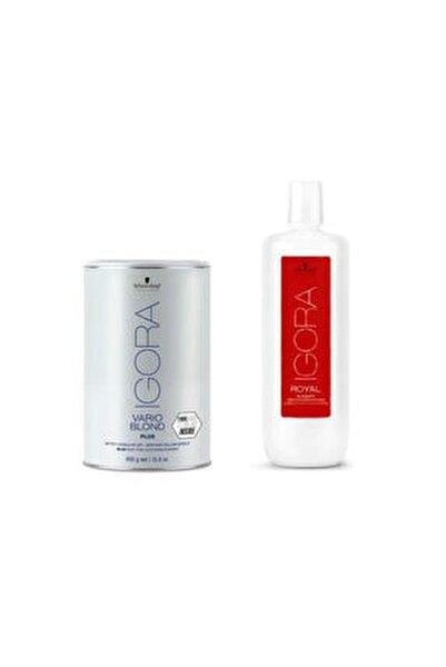 Igora Vario Blond Plus Mavi Acıcı 450 gr + Igora Krem Oksidan %9 30v 1000 ml