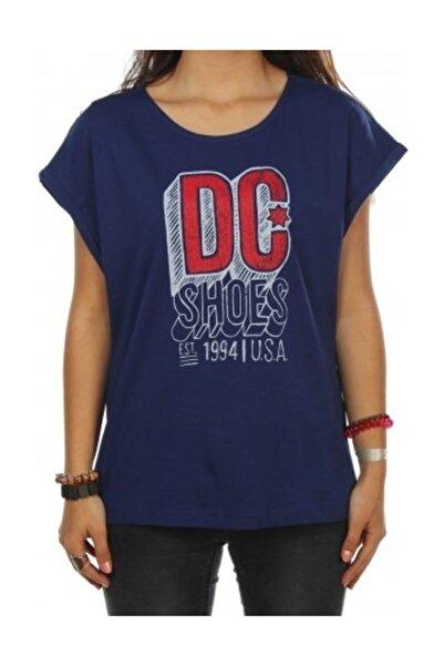 DC Chalkline Tee Blue Prt Kadın Tişört