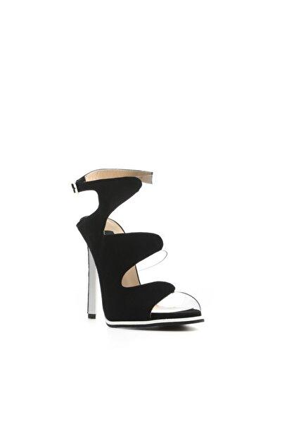 İLVİ Brigy Kadın Sandalet Siyah Süet