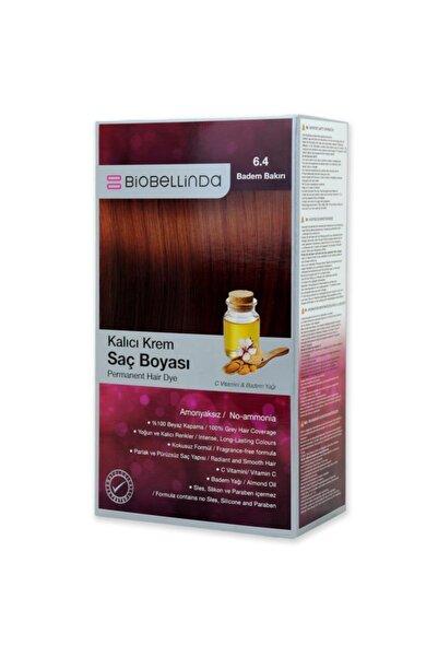 BioBellinda Amonyaksız Ve Kokusuz Kalıcı Krem Saç Boyası - 6.4 Badem Bakırı