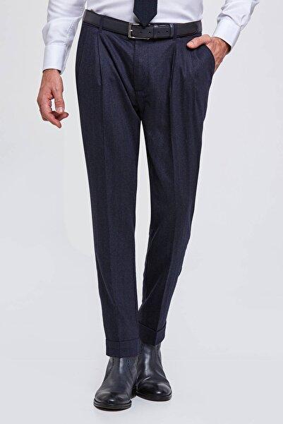 Hemington Erkek Yün Kaşmir Lacivert Chino Pantolon