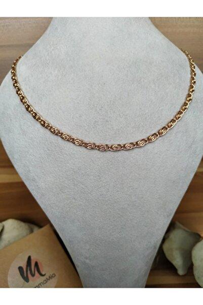 Mammamia Carrie 50cm Zincir Kadın-erkek Çelik Rose Kolye