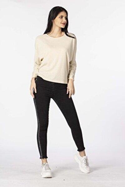Kadın Black Yüksel Bel Yanı Sim Şeritli Pantolon 397-20Y04001.83