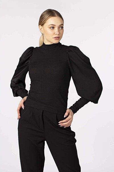 BARRELS AND OIL Kadın Siyah Karpuz Kol Bluz 818-19K35008.91