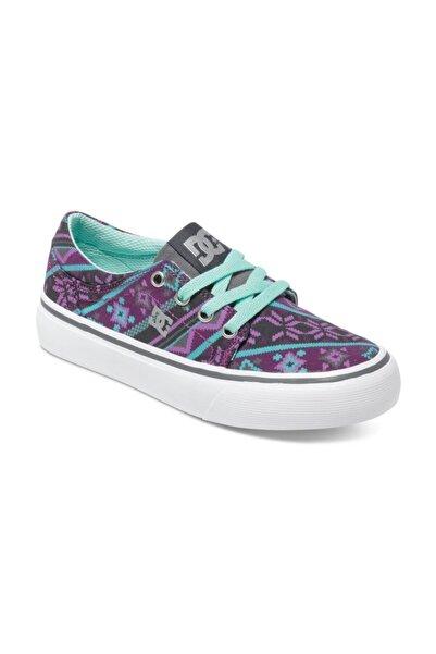 DC Trase Tx Se G Grey Purple Çocuk Ayakkabı