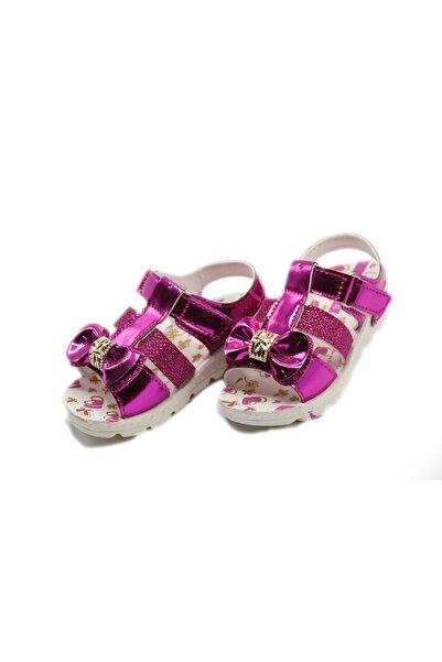 Tuna Fuşya Fiyonklu Kız Çocuk Sandalet Ayakkabı