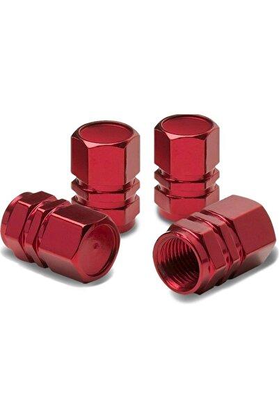 Sunix Alüminyum Altıgen Sibop Kapağı 4 Lü Kırmızı