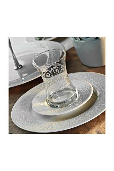 Kütahya Porselen Açelya 12 Parça Çay Seti Dekorsuz