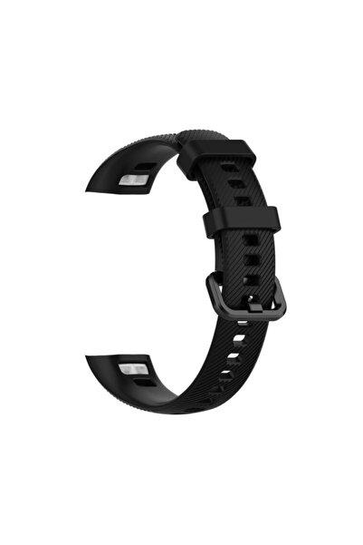 Tiegem Huawei Honor Band 4 Silikon Akıllı Bileklik Kayışı Kordonu -Siyah