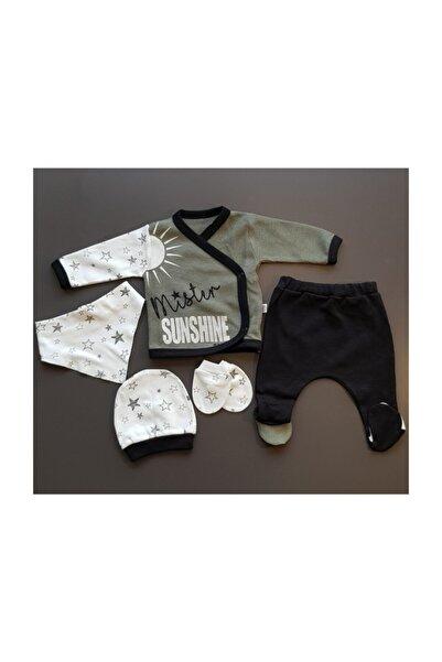 Bilgebebek Erkek Bebek 5 Parça 0-3 Ay Hastane Çıkışı Seti 1005550