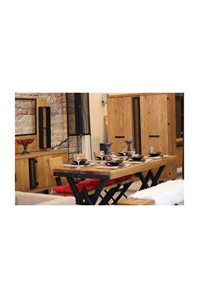 NT Concept Ntconcept Masif Ağaç Yemek Masası - 85cm-150cm Masa
