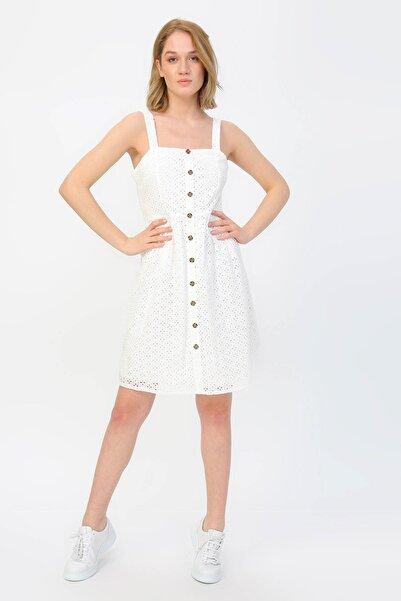 Fabrika Kadın Beyaz Elbise 504393143 Boyner