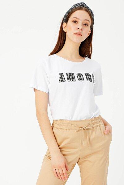 LİMON COMPANY Kadın Beyaz Tişört 504393944 Boyner