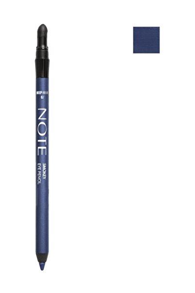 NOTE Suya Dayanıklı Koyu Mavi Göz Kalemi - Smokey Eye Pencil Waterproof 02 Deep Blue 8680705308025