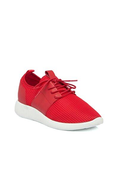 Tergan Kırmızı Tekstil Kadın Ayakkabı 64469ı48