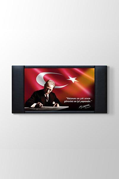 TabloShop Atatürk Makam Panosu - Vatanını En Çok Seven Görevini En iyi Yapandır - 200x100cm -
