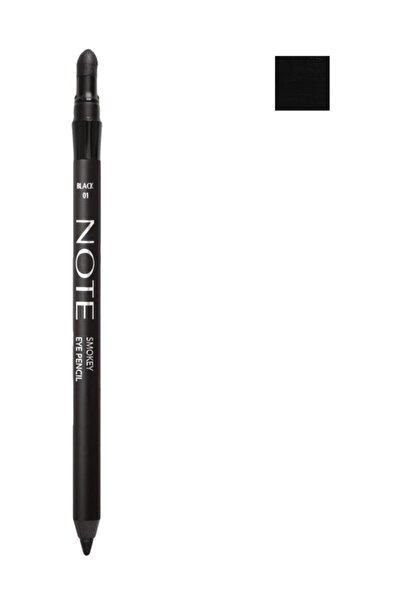 Suya Dayanıklı Siyah Göz Kalemi - Smokey Eye Pencil Waterproof 01 Black 8680705308018