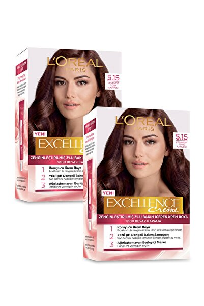 L'Oreal Paris Excellence Creme Saç Boyası 5.15  Efsanevi Türk Kahvesi 2'li Set 36005209710562