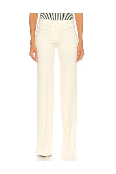 THEORY Geniş Paçalı Beyaz Pantolon