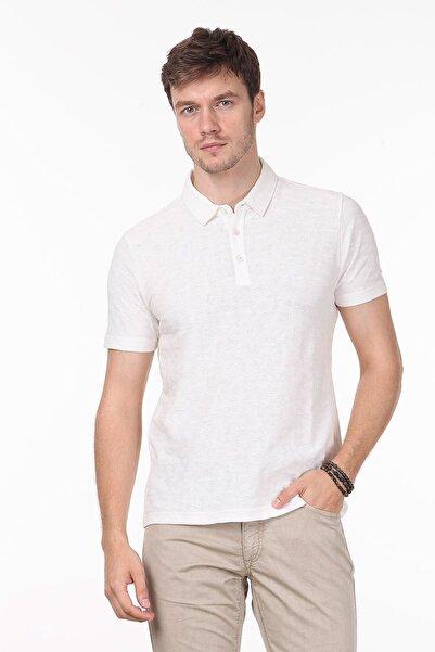 Ramsey Erkek Ekru Jakarlı Örme T - Shirt RP10119896