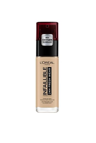 L'Oreal Paris Uzun Süre Kalıcı Fondöten - Infaillible 24H Fresh Wear 125 Natural Rose 30 ml 3600523614516