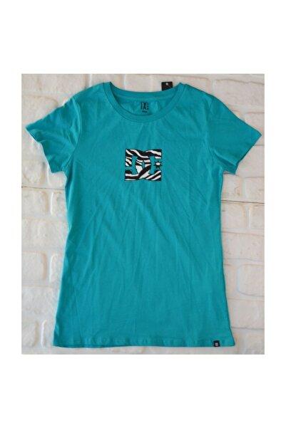 DC Zebra Logo Tee Trop Grn  Kadın Tişört