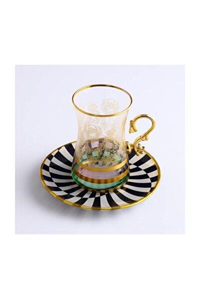 Kristal Dekorlu 6 Kişilik Çay Bardağı Takımı Tuna Exclusive