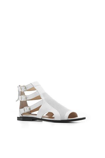 İLVİ Mila Kadın Sandalet Beyaz Deri