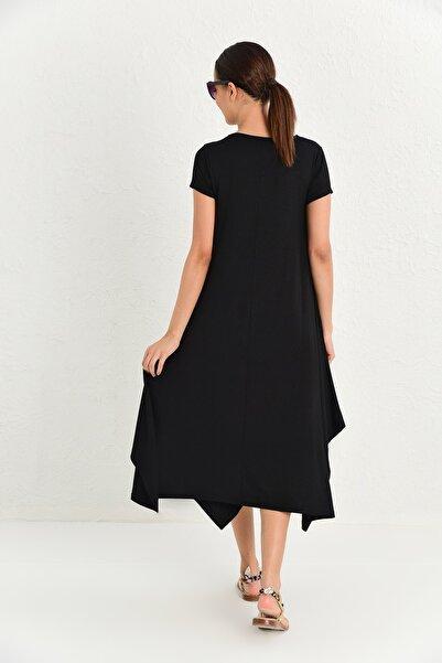 Kadın Siyah Tunik Elbise MP413