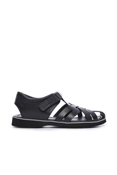 KEMAL TANCA Hakiki Deri Siyah Erkek Sandalet Sandalet 676 E4504 ERK SNDLT