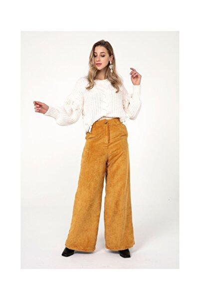 Tiffany Yüksek Bel Aerobin Kadife Pantolon K20359