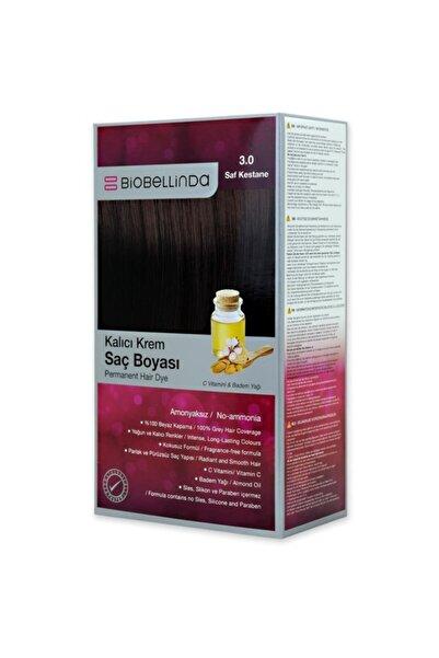BioBellinda Amonyaksız Ve Kokusuz Kalıcı Krem Saç Boyası - 3.0 Saf Kestane